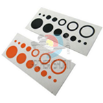 Adesivi Merlin per diottra Ten Zone Dot Pin DECALS 1 Arancio + 1 Nero